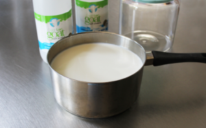 Heating unpasteurized milk