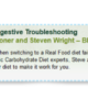 SCD Lifestyle Troubleshooting Your Diet