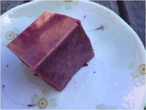 Pic of Angela's Blueberry Yogurt-Jello on a plate
