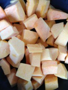 Butternut squash cubed