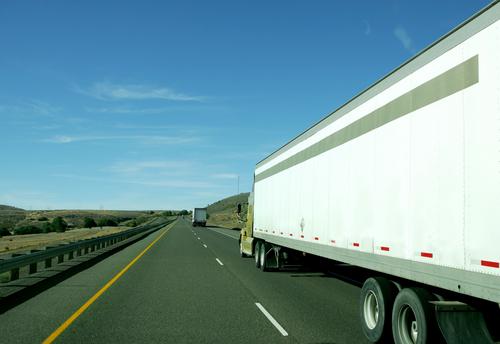 Semi-truck blind spot