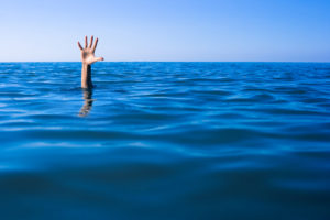 Person drowning
