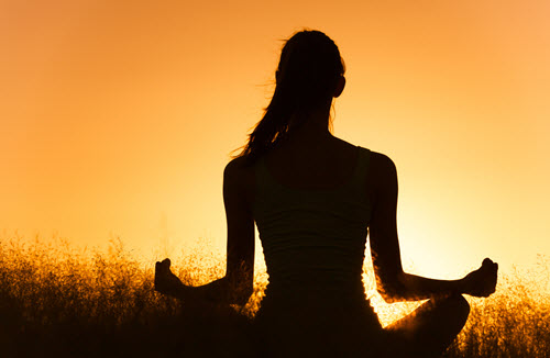 woman-meditating-facing-away-in-flower-field