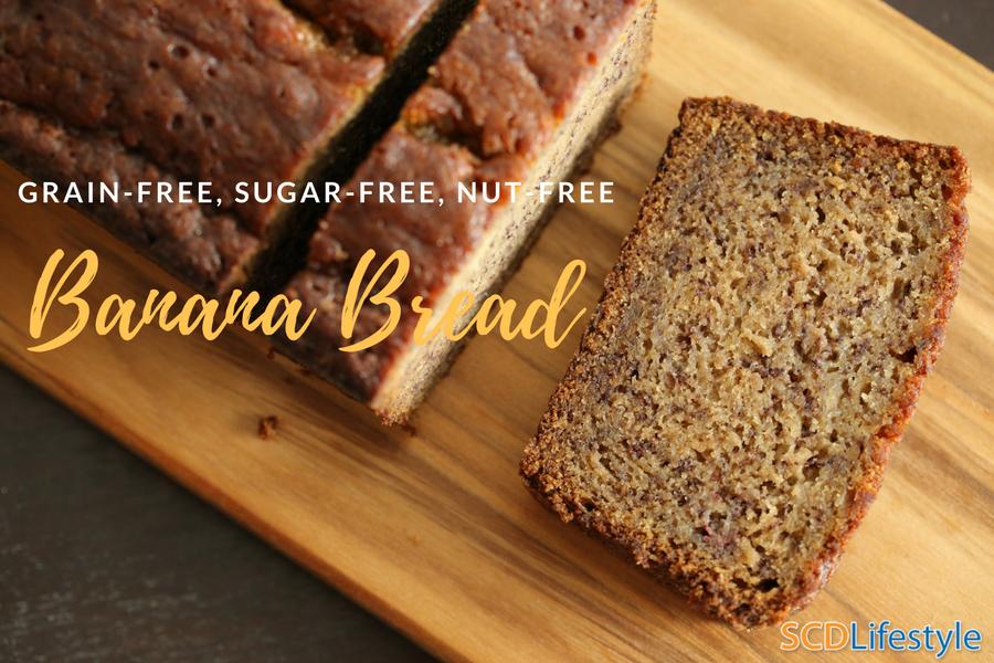 grain, sugar, and nut free banana bread