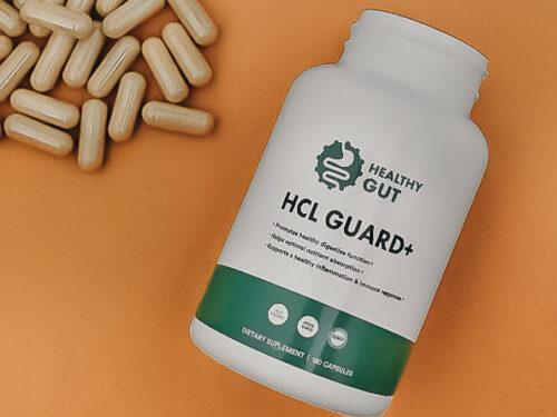 open bottle of hcl guard+