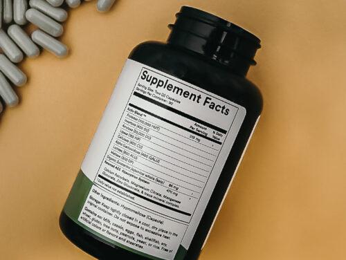 back of holozyme bottle