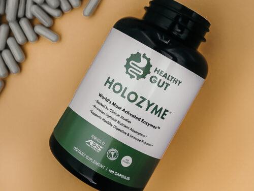 front of holozyme bottle